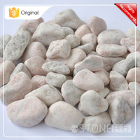 Alibab Online Wholesale Pink Machine Made Pebble Stone