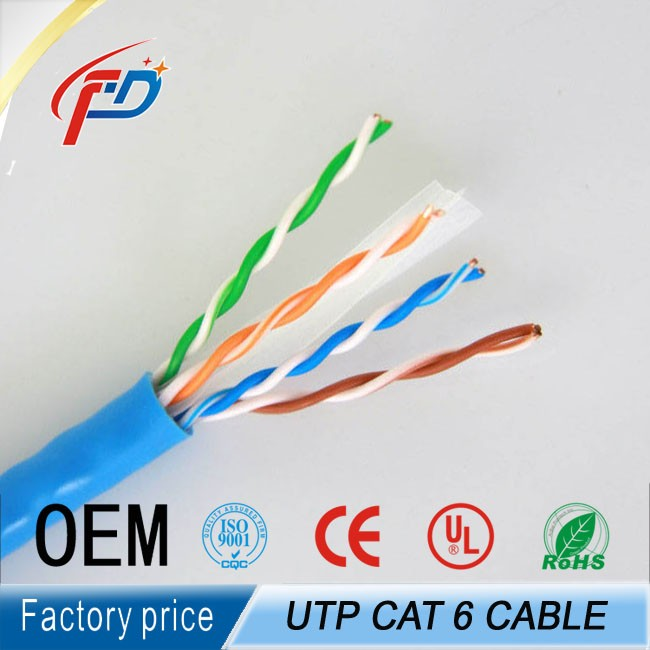 Good price high quality cat 5 cat 5e cat6 lan cable 24awg/4p