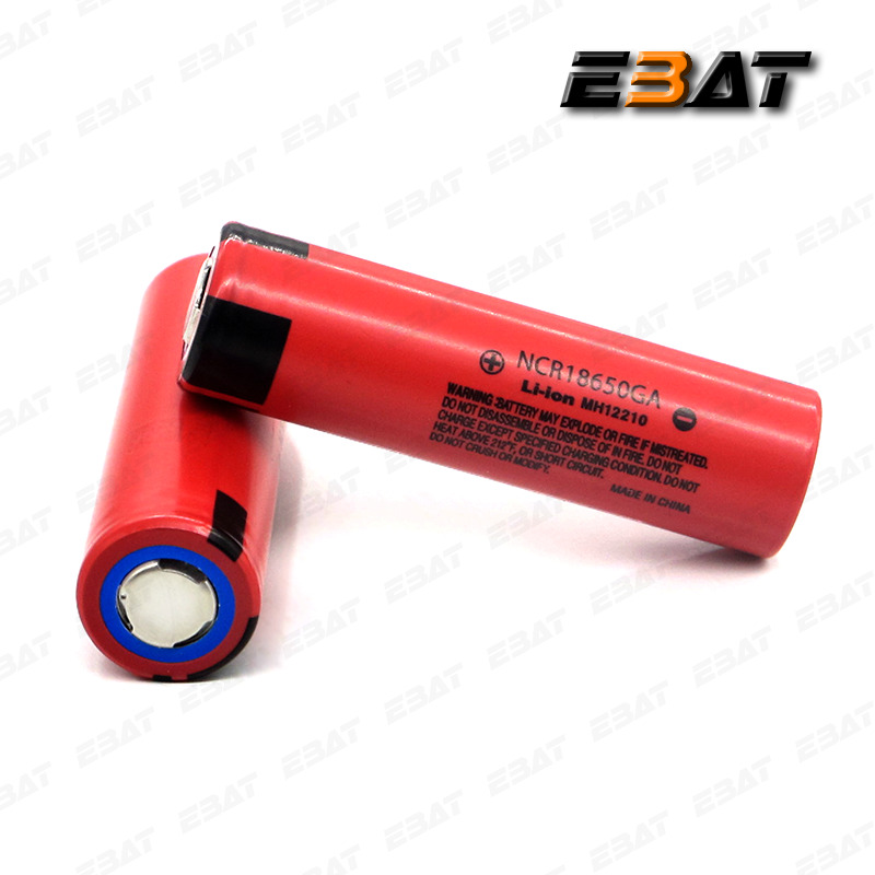 NCR 18650ga lithium ion battery ncr 18650ga rechargeable battery ncr18650ga 3.7v battery with button top for flashlights