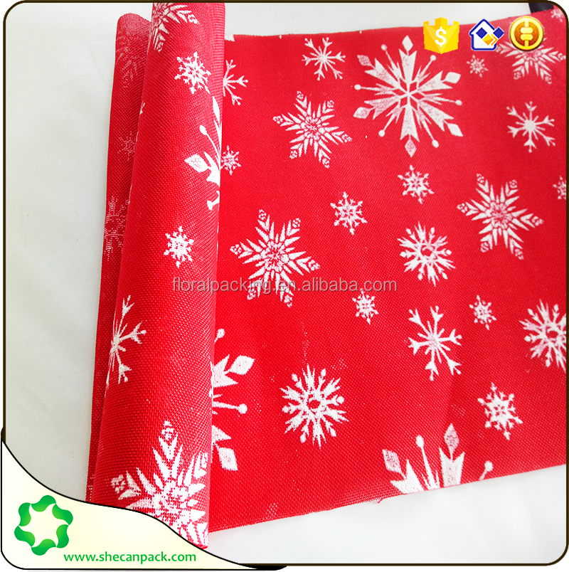 SHECAN Decor fabric Fashion snowflake Christmas table runner