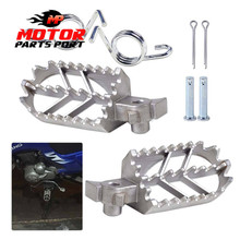 Stainless steel Front Foot Peg Footrest fits for Motorcycle Dirt bike Motocross