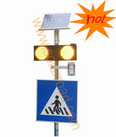 Radar Detector Solar Pedestrian Crossing Traffic Signal Light