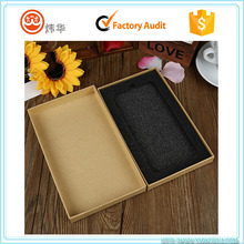 Customized Kraft Paper Phone Shell Packaging Box Mobile Phone Case Box With Foam Insert