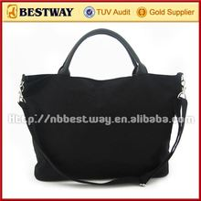 Super quality two-tone canvas tote bag