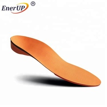 Custom correction flat foot leather orthotic arch support orthopedic pain relief Copper insoles for shoe