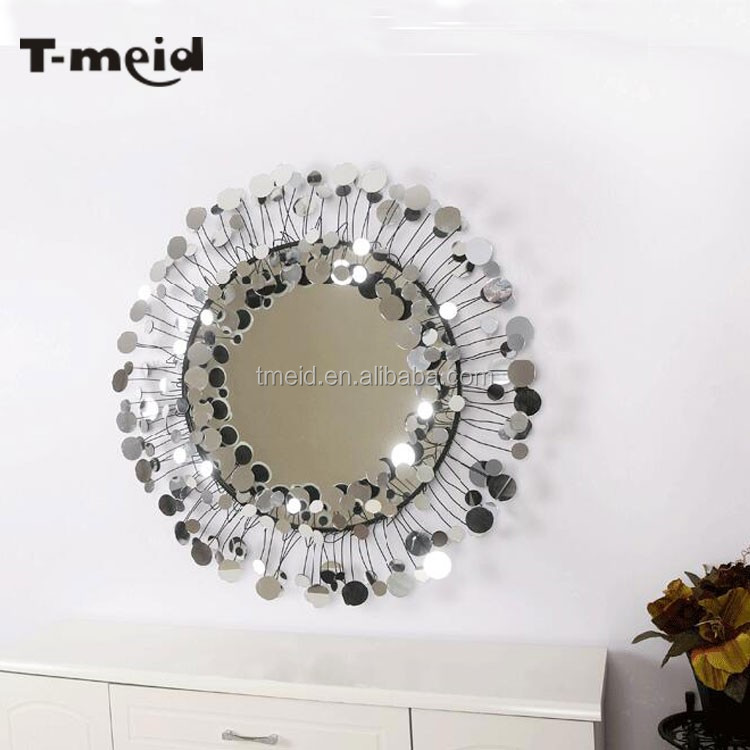 large modern design metal home decoration wall mirrors