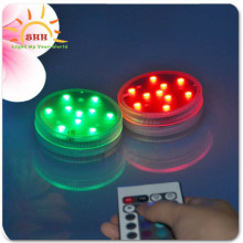 Remote Floralyte Rgb Submersible 10 Led Aquarium Base Light for Wedding Supplies