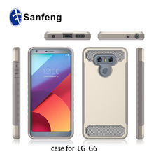 Ebay Amazon Seller Recommended Premium Wholesale Cell Phone Accessories Slick Hybrid Protector Case for LG G6 Case Carbon Fiber