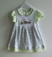 Fashion design baby clothes 100% cotton confortable baby dress