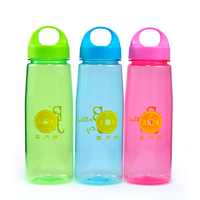High Quality Plastic Bottle Drinking Water With Portable Cap,Multicolors,800ml