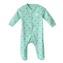 100% Cotton Newborn Baby Zipper Pattern Foot Cover Rompers Wholesale