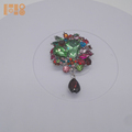 Wholesale pins brooches decorative safety pin acrylic rhinestone brooch