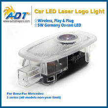 Newest Wireless No drill play&plug and plug customizing logo projector kit for mercedes