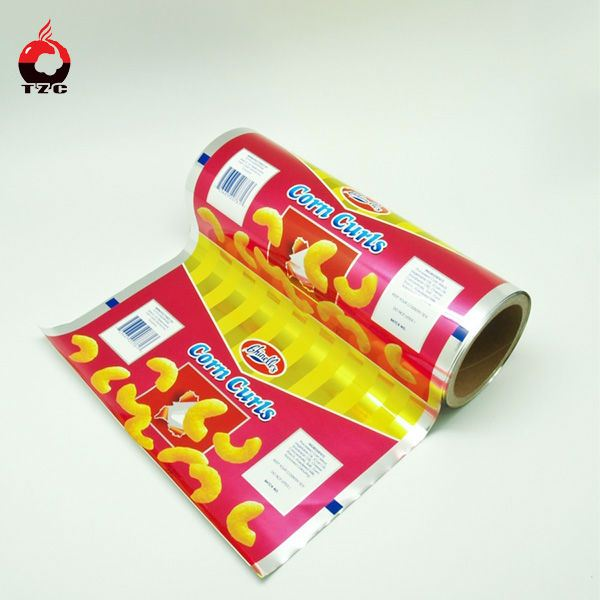 Food packing with printings packing film