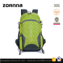 Big capacity Breathable Waterproof Nylon wholesale brand outdoor hiking backpack sports travel bag