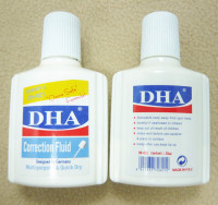 Hot sale DH-821 high quality quickly dry non-toxic waterbase brush DHA correction fluid