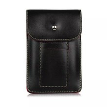 6.3 inch cell phone wallet case with shoulder straps for samsung universal leather phone bag for iPhone