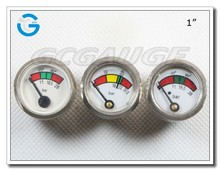 High quality 1 inch chrome-plated fire extinguisher pressure gauge
