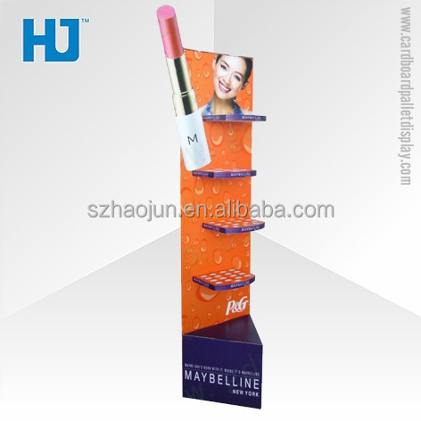 Custom POS Paper Maybelline cosmetic beauty products stands display