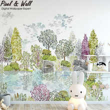 Coloured drawing or pattern style decoration mural home decoration kids wall paper PW1708070003