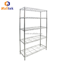 Cost- Effective 6 Tiers Adjustable Industrial Wire Shelf