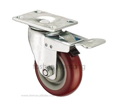 Metal bracket swivel or fixed or with brake furniture ball plastic caster