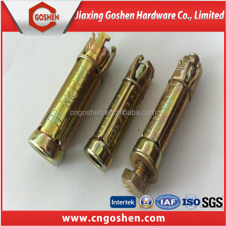 Yellow Zinc Plated 4pcs Fix Bolts