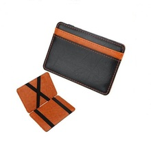 Amazon Hot Sale Custome Logo Travel Business Leather Card Holder RFID Magic Wallet