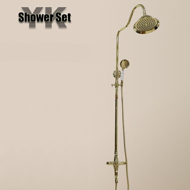 2017 luxury golden rain bathroom shower set