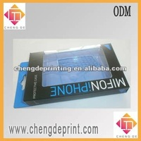 Ipad and Iphone packaging box with spot color printing and pvc window and inner pvc blister tray iphone case packaging