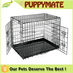 EXtra Large Folding Pet Dog Cat Crate Cage Kennel With Plastic Tray