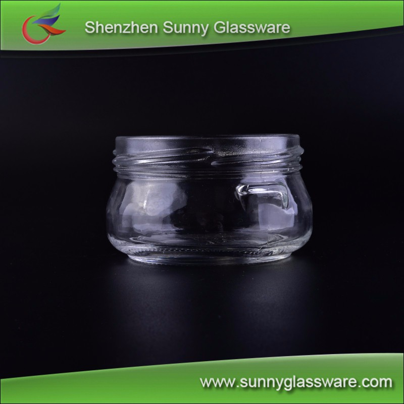 cosmetics cream glass bottles and jars empty