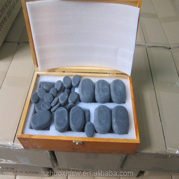 Natural hot massage stone 60pcs various packing