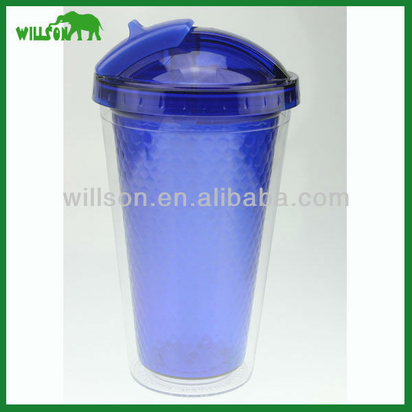 16oz double wall acrylic tumbler with straw wholesale