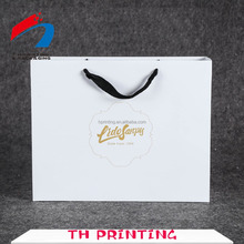 Custom paper shopping bags with logos