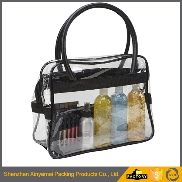 resealable set of reusable shopping custom made large vinyl pvc eva matte tote bags handle zipper waterproof zipper