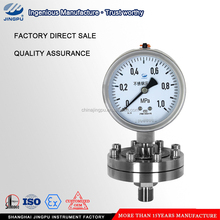 Stainless steel diaphragm pressure gauge with thread type
