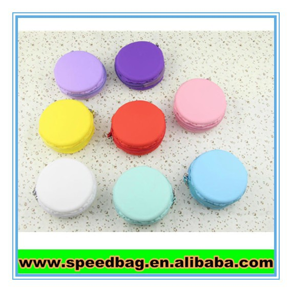 Silicone rubber coin purse with zipper