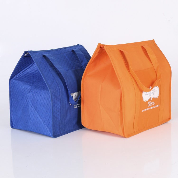 Therm-O-Tote Grocery Food <strong>Delivery</strong> Non Woven Thermal lined Cooler Bag Insulated