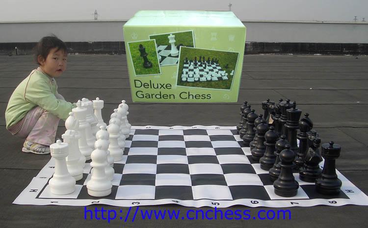 Ajedrez de jard n conjunto con la caja de regalo de embalaje juegos de ajedrez identificaci n for Ajedrea de jardin