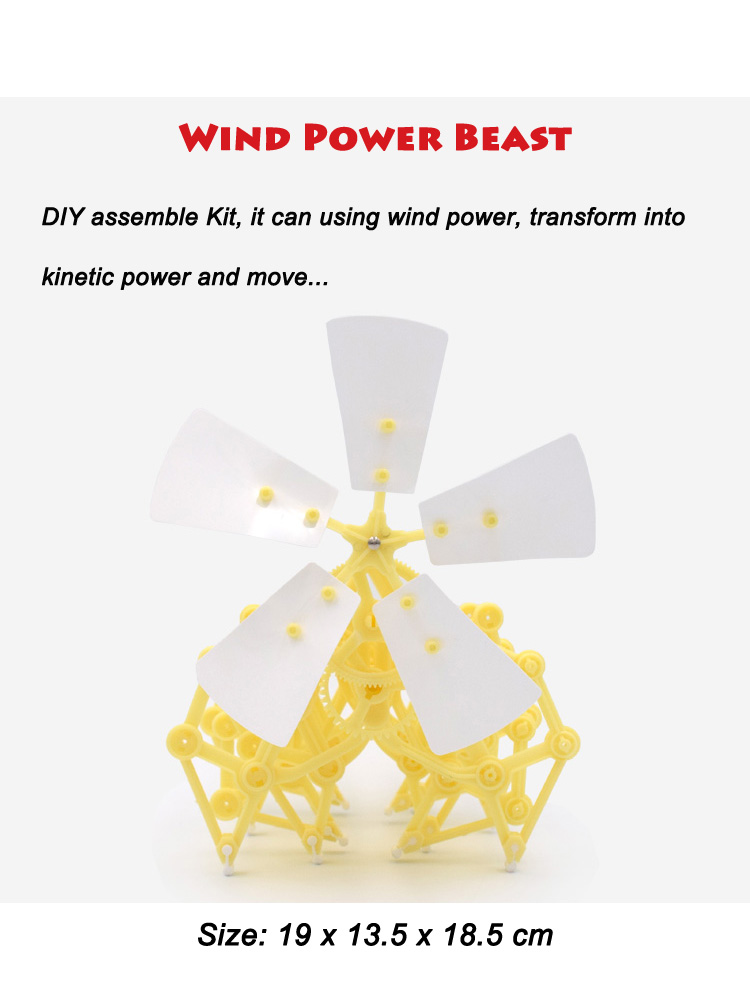Wind power science educational kits toy 2018 new