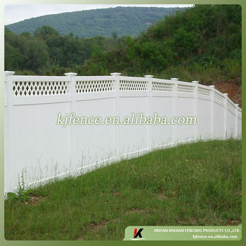 lattice top Vinyl plastic fence