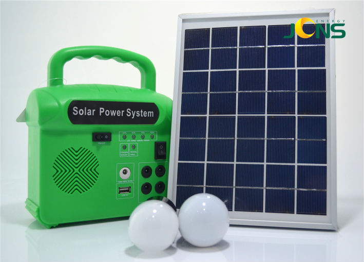 Small portable solar for camping with MP3 and Radio function generator