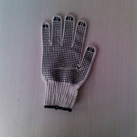 pvc dotted working glove/inner gloves short cuff