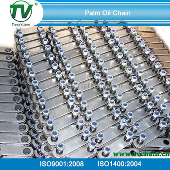 P152.4mm or P101.60mm Palm Oil conveyor chain with extended pin or hollow pin type