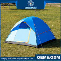 Competitive Price Waterproof 3-4 people Double Layers Hiking Climbing Big Tent