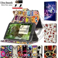 9 Styles Printed Wallet Stand Magnetic PU Leather Flip Cover Case For BQ 1151G 11.6'' Universal Tablet Case 11.6 inch