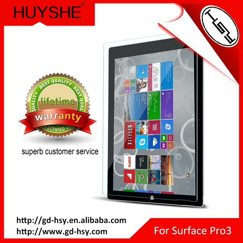 HUYSHE tempered glass screen protector for laptop for surface pro 3 4