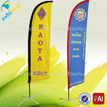 Polyester beach flag for outdoor advertisement