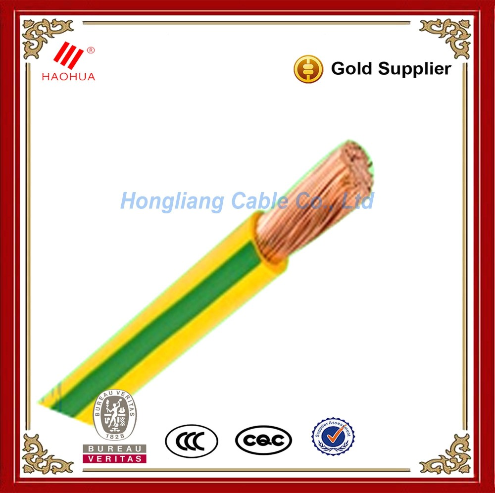 NO.3493- Green Yellow Grounding Wire 120mm PVC Insulated Earthing Copper Cable